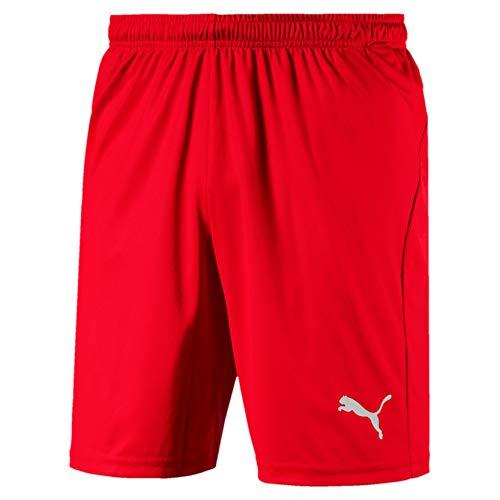 PUMA Herren Liga Shorts Core with Brief Hose, Red White, XXL
