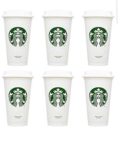 Starbucks Wiederverwendbare Kaffeebecher aus recycelbarem Kunststoff, 473 ml, BPA-frei (6 Stück)