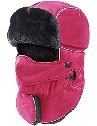 Unisex Sciare Cappello da Caccia Trooper Cappello da sci protezione  completa con maschera facciale colore puro c3a9ed0be0a2