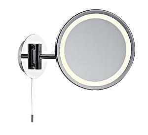 Miroir grossissant lumineux gibson en chrome poli amazon - Amazon miroir grossissant ...