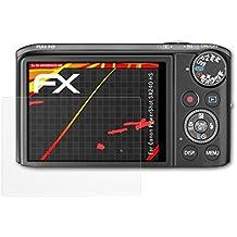 atFoliX Folie für Canon PowerShot SX240 HS Displayschutzfolie - 3 x FX-Antireflex-HD hochauflösende entspiegelnde Schutzfolie