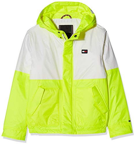 Tommy Hilfiger Jungen NEON Bonded Jacket Jacke, Gelb (Safety Yellow 080), 128 (Jacket Yellow Kinder)