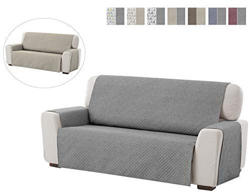 Textil-home salvadivano trapuntato copridivano dante 2 posti reversibile. colore grey