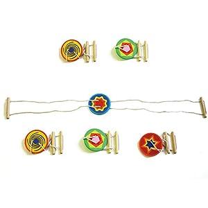 EDUPLAY 800497 - giroscopio Cuerda Floja de Madera, 6 Piezas