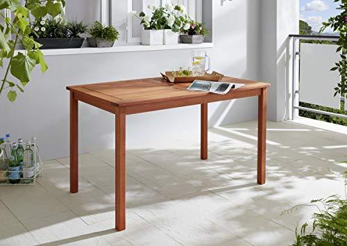 GRASEKAMP Qualität seit 1972 Milano Gartentisch Natur 125x75cm H 75cm Holztisch Rechteckig Esstisch -