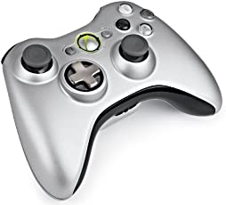 Xbox 360 - Controller Wireless R, Argento + Kit Play & Charge