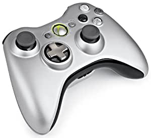 Xbox 360 Wireless Controller with Play and Charge Kit - Silver (Xbox 360)