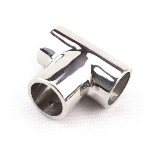 Ting Ao 1Boot Handlauf Beschläge 90Grad Tee Rechte Seite 7/20,3cm 2,5cm Polish Edelstahl, 7/8