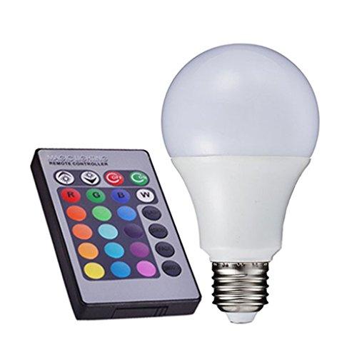MagiDeal E27 5W Globe Glühbirnen Kugel Kugellicht Lampen Birne 16 Farbwechsel, RGBW + Fernbedienung