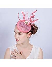 Sombrero del día de Damas para Mujer Fascinator Hat Cocktail Tea Party Caps  Tocado de la 4a98bc1b047