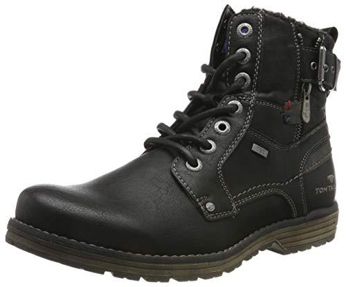 TOM TAILOR Herren 7980806 Klassische Stiefel, Schwarz (Black 00001), 44 EU