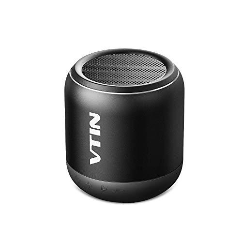 Bluetooth Lautsprecher, VTIN Hotbeat Mini Mobiler Speaker Musikbox mit 8 Stunden Spielzeit, 10M Bluetooth Reichweite und IPX5 Wasserdicht,Tragbar Kabellos Lautsprecher für iPhone, Samsung usw. (Schwarz)