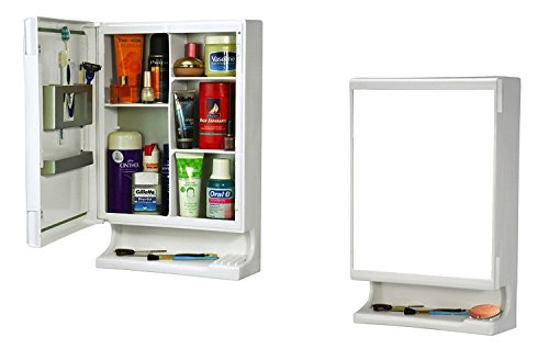 Parasnath High Quality White New Look Bathroom Cabinet with Cabinet With Mirror (Lifetime Warranty*MADE IN INDIA)