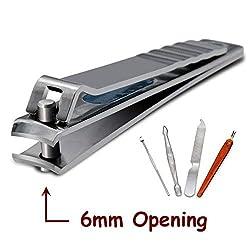 Nagelknipser Groß, AYADA 6mm Große Öffnung für Fußnägel Dicke und Hart Nägel