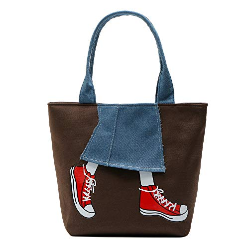 OSYARD Frauen Einkaufstasche,Damen Canvas Handtasche Schultertasche Casual Multifunktionale Umhängetaschen Groß für Arbeit Schule Shopper Lässige