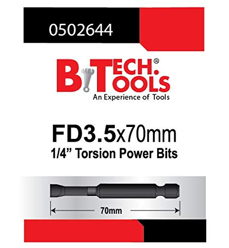 B.TECH TOOLS B. Tech 0502644 ACR Torsions-Bit, Schlitz, FD3.5, 70 mm