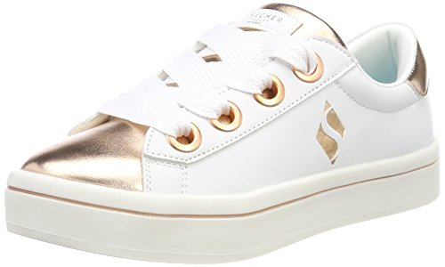Skechers Mädchen Hi Lite-Medal Toes Sneaker, Weiß (White/Rose Gold Wtrg), 38 EU