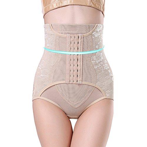 LUOEM Hi-Taille Bauch Kontrolle Body Shaper Abnehmen Höschen postpartale Body Shaper Unterwäsche Schlüpfer - Größe M (Hautfarbe) -