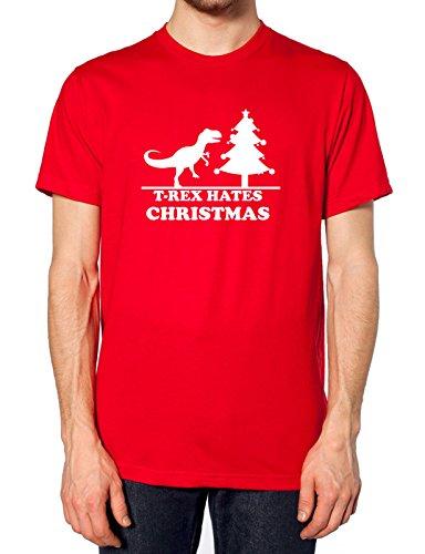 T Rexs hasst Weihnachten T Shirt Rot - Rot