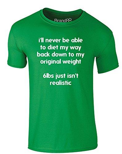 Brand88 - Original Weight, Erwachsene Gedrucktes T-Shirt Grün/Weiß