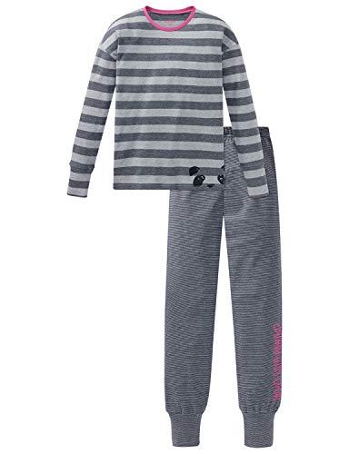 Schiesser Mädchen Anzug lang Zweiteiliger Schlafanzug, Grau (Grau-Mel. 202), (Herstellergröße: 164)
