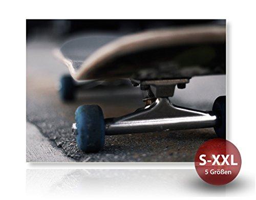 Printalio - Skateboard Detail - Fotodruck, Kunstdruck auf Forex-PVC-Platte   Hochwertiges Wandbild mit Matter Beschichtung   100 cm x 70 cm