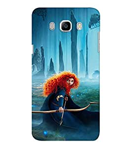 EPICCASE Girl with Bow and Arrow Mobile Back Case Cover For Samsung J7 2016 (Designer Case)