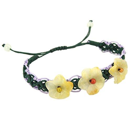 mountain-en-hawaien-fleur-vert-lavande-doux-bracelet-reglable