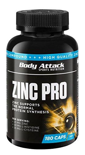 body-attack-zinc-profesional-180-paquete-de-180-capsulas