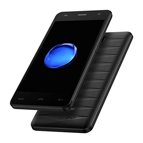 Smartphone Débloqué 4G HOMTOM HT26 Téléphone Portable Pas Cher (Ecran: 4.5 Pouce HD, 1 Go RAM + 8 Go ROM, MTK6737 Quad Core 1.3GHz, Double SIM, Caméras 5MP + 2MP, OTA GPS WIFI, Android 7.0) Noir