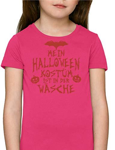 Grusel Gruppen Premium Bio Baumwoll Mädchen Jungen Kinder T-Shirt Stanley Stella Mein Halloween Kostüm ist in der Wäsche 3, Größe: 12/14,Rasberry (Der Halloween-kostüme Mädels Drei)