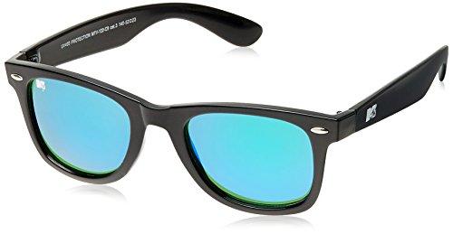 MTV Mirrored Wayfarer Unisex Sunglasses (Black) (MTV Mirrored-122-C9) image