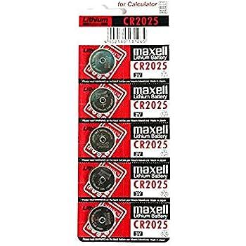Producto nuevo 5 x Maxell CR2025 pilas batería de litio 3 V juego de pilas de botón CR 2025 DL2025