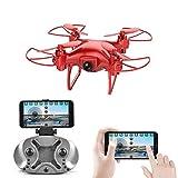 Mini Drone con cámara HD Sensor de Gravedad Control de Voz Trayectoria Vuelo Nano Quadcopter 2.4G 6 Ejes Gyro RC Pocket Drone Regalos para niños,480P