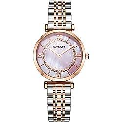RORIOS Mode Femme Montres Bracelet Acier Inoxydable Ladies Watch Imperméable