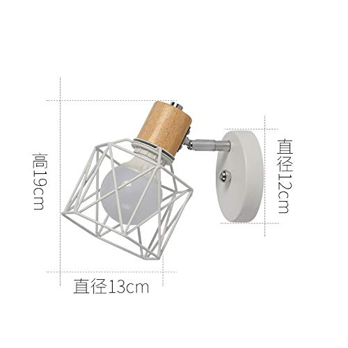 B Wandleuchte weißer Sockel + weißer Lampenschirm mit zweifarbiger 7-Watt-LED-Lampe