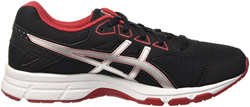 Asics Unisex-Kinder Gel-Galaxy 9 Gs Sneakers Schwarz (Black/Silver/True Red)