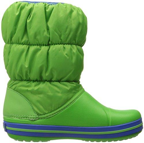 Crocs Winter Puff Boot Kids, Boots mixte enfant Vert (Lime/Sea Blue)