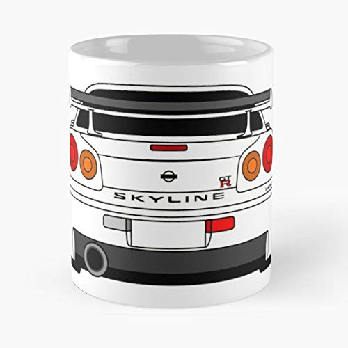 R34 Drift Skyline N Best Gift Ceramic Coffee Mugs Thermos Nissan Travel Tumbler