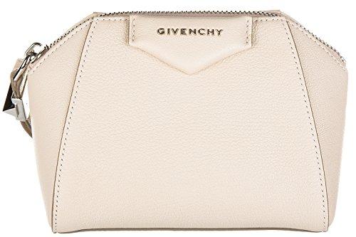 Givenchy pochette a mano donna in pelle nuova originale antigona beige