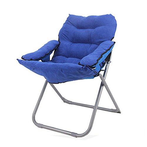 Chaises pliantes Fauteuils inclinables Fauteuils de loisirs Fauteuils inclinables Fauteuils pliants Chaises pour dortoirs pour étudiants (Couleur : Bleu)