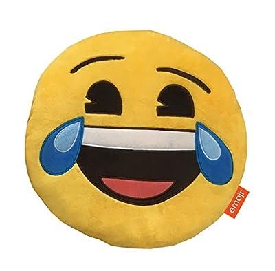 Emoji Happy Tears Plush Cushion, Multi - inexpensive UK light shop.
