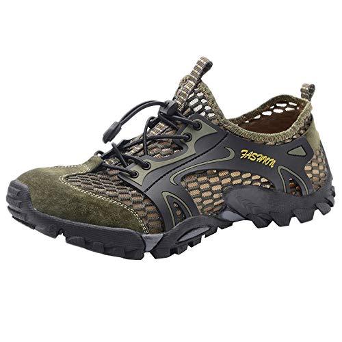 Outdoor MäNner Klettern Schuhe Turnschuhe Fitness Trekking Running Mit Streifen Laufschuhe rutschfest Sneakers MäNner Atmungsaktive Leicht Sportschuhe Fitness Trekking