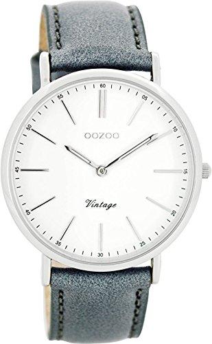 Oozoo Damen Digital Quarz Uhr mit Leder Armband C8167