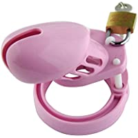 Funwill Silikon Männliche Keuschheit Gerät Locking Gürtel Restraint Fetisch Sex Spielzeug Pink