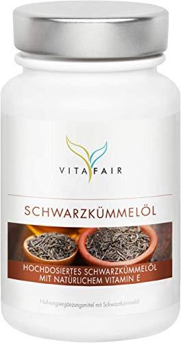 Schwarzkümmelöl Kapseln | 3000mg pro Tagesdosis | 400 Softgel Kapseln | Ägyptisch & kaltgepresst | Hochdosiert mit 5mg Vitamin E | Ohne Magnesiumstearat | Made in Germany