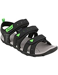 6a7ee55fd971df Fsports Men s Black Green Colour Maximus Series Synthetic Casual Sandal 8UK