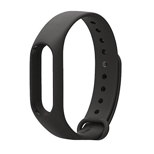 COOSA Ersatzband für Xiaomi Mi Band 2 Mehrfarbig Wasserdichter Ersatzband für XIAOMI 2 Wireless Armband Ersatzarmband (No Activity Tracker) (Schwarz)