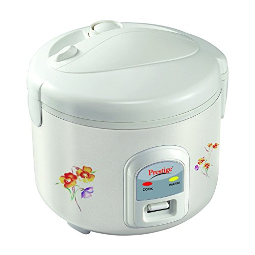 Prestige PRWCS 1.2 500-Watt Electric Rice Cooker (White)