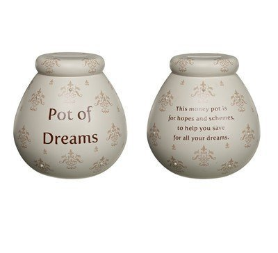 Pot of Dreams - Fleur de Lys - Ceramic Money Box